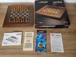 rare 1986 kasparov electronic chess computer astral scisys no