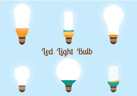 led lights bulbs vector pack free vector stock