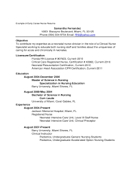 New Graduate Resume Examples by New Grad Nurse Resume Examples Rental Probably Ml