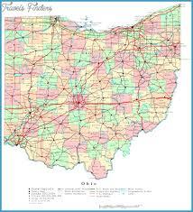 map of ohio map of ohio travelsfinders