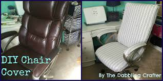 Desk Chair Arm Covers The Dabbling Crafter Diy Sunday Office Chair Cover