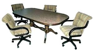 dining table with caster chairs caster dining room chairs dining room chairs with casters dining