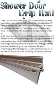 Plastic Shower Door Seal Ds203 Framed Glass Shower Door Aluminum Metal Drip Rail With Wipe