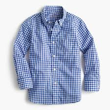 kids u0027 secret wash shirt in blue gingham boy shirts j crew
