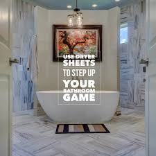use dryer sheets to step up your bathroom game u2013 illumibowl