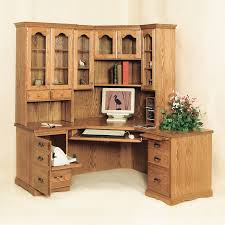 Wood Corner Desk With Hutch Corner Desks With Hutch Traditional Desk Amish Onsingularity