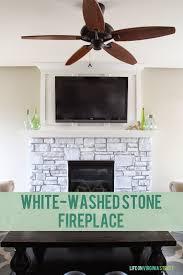 white washed stone fireplace life on virginia street