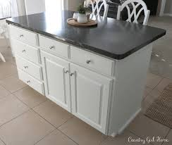Kitchen Island Drawers Country Home Kitchen Island Planking And Paint Makeover