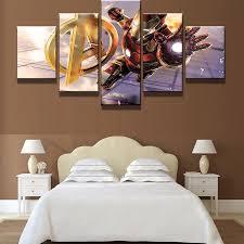 avengers home decor 5 panel avengers age of ultron iron man modern home wall decor