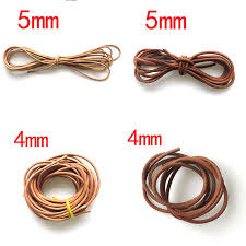 make leather cord bracelet images 2yards 4mm 5mm round genuine leather cord leather cord for diy jpg