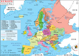 map or europe political map of europe with countries and capitals