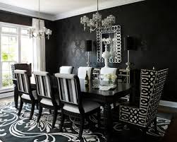 Black Dining Table Houzz - White and black dining table