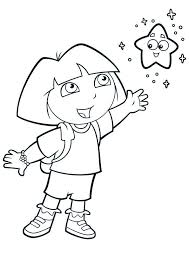 dora explorer colotring pages