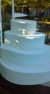 wedding cake pool steps that time i got stuck in my pool steps boots and cats