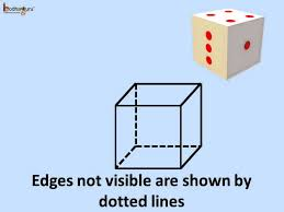 math how to draw 3d or solid shapes cube cuboids on paper