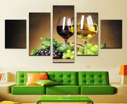 discount home decoration wine cups pictures canvas oil painting on