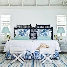 Best Coastal Bedrooms Images On Pinterest Coastal Bedrooms - Blue and white bedroom designs