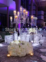 wedding table decorations candle holders new beautiful 9 arms 90cm 35 43inch tall crystal candelabra candle