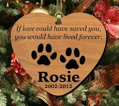personalized pet memorial ornament wooden by bluemoonlasershop