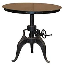 Patio Bistro Table Kosas Home Durable Adjustable Crank Patio Bistro Table