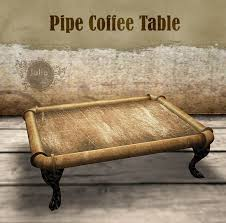 Pipe Coffee Table by Second Life Marketplace Julia U0027s Steampunk Pipe Coffee Table