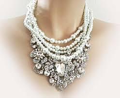bib necklace rhinestone images Bridal statement necklace wedding necklace bridal necklace jpg
