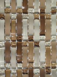 Taupe Curved Mosaic Glass Tile   Sq Ft Kitchen Backsplash - Glass tiles backsplash kitchen