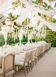 reception décor photos romantic open air tent floral