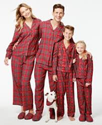 family pajamas plaid pajama sets only at macy s