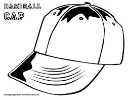 baseball hat coloring pages getcoloringpages com