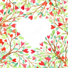 Wedding Card Design Background Love Tree Watercolor Love Background Red Heart Wedding