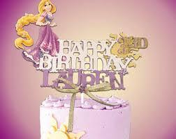 tangled cake topper rapunzel etsy