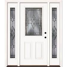 exterior doors with glass mediterranean front doors exterior doors the home depot