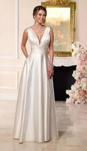 satin wedding dresses simple satin wedding dress for brides 40 50