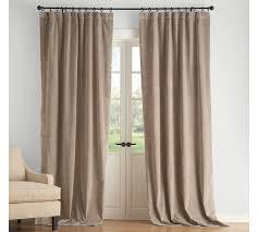 Olive Colored Curtains Velvet Drape Pottery Barn