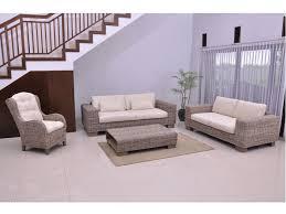 canape en osier canapé et fauteuil en rotin tressé et tissu hevea