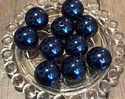 navy blue pearls etsy