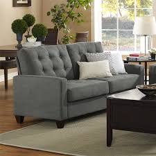 Charcoal Sofa Bed Enchanting White Cushions On Two Seater Modern Charcoal Sofa And