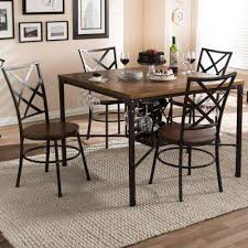 wood and metal dining table sets brown wood metal dining room sets kitchen dining room