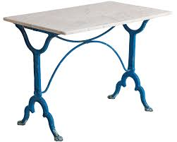 Marble Bistro Table Sold An Antique French Blue Painted Bistro Table With Marble Top