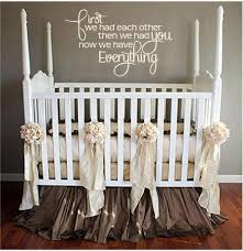 lovely quote wall decals for baby nursery baby nursery pvc quote full size of baby nursery first we had each other then we had you now