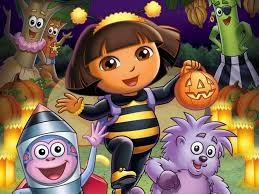 halloween cartoon wallpaper my free wallpapers cartoons wallpaper dora halloween parade