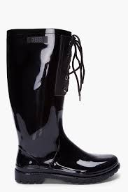 diesel womens boots canada diesel black patent hook r rainboots in black lyst