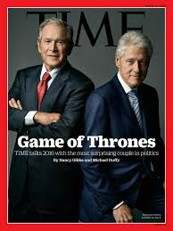 george w bush and bill clinton share the cover of time magazine