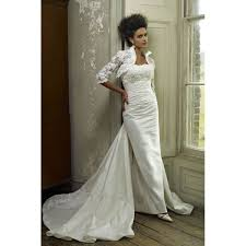 lace wedding dress with jacket graceful stand collar half sleeves lace wedding dress jacket