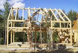 building an a frame cabin timber frame construction built in vermont by treetop builders