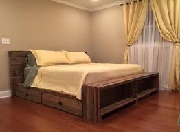Pallet Platform Bed Stylish Diy Wooden Pallet Bed With Storage Ideas Recycled Pallet