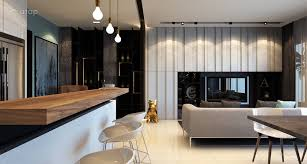 modern kitchen living room condominium kitchen modern design normabudden com