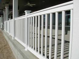 porch banister porch railing spindles space landscaping