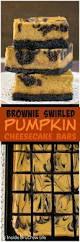 brownie swirled pumpkin cheesecake bars inside brucrew life